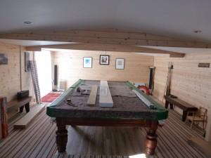 log cabin fitting lights