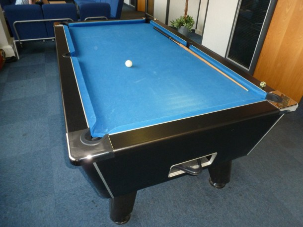Leicester pool table before