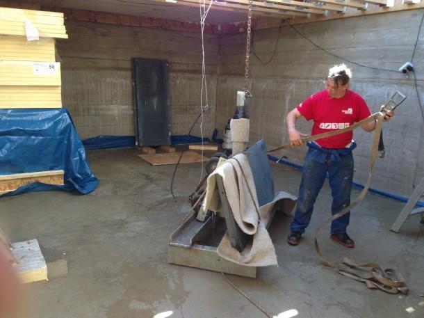 Crane slates basement