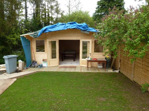 Oxon george wright log cabin