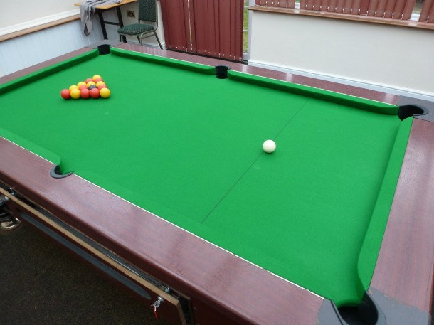 caravan pool table cover old cloth
