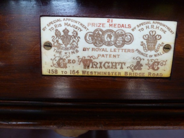 oxon g wright ivory 21 medal plate