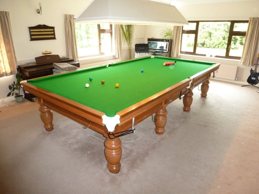 Another Re-rubber and Re-cover on a full size snooker table near ...