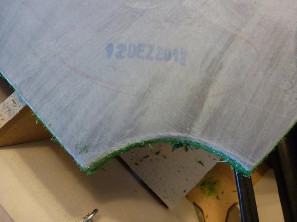 glue cleaned off pool slate