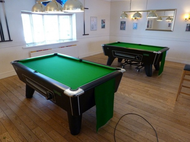 pool tables finished @pavilion