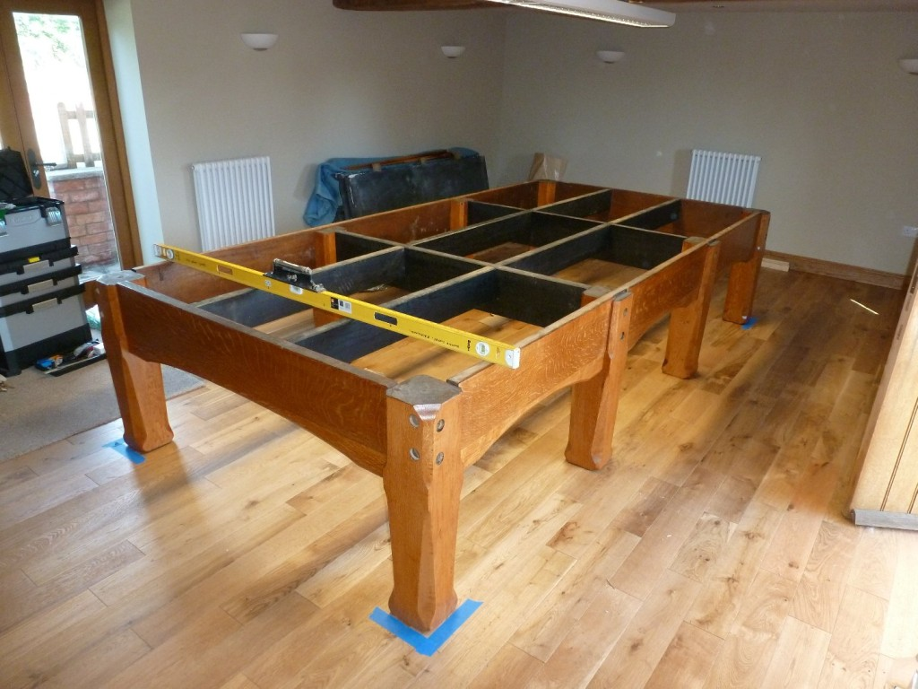 Setting Up A Pool Table Very Busy For The Next 4 Weeks Snooker And Pool Table Work From