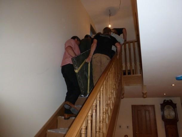 Barnsley slate in attic stairs 2