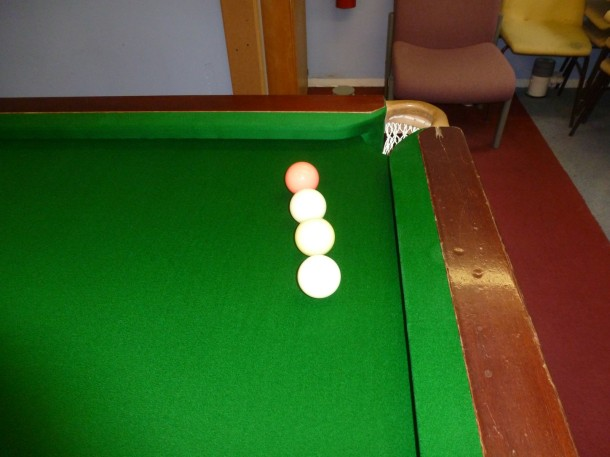COV S balls aligned showing roll off dished slate