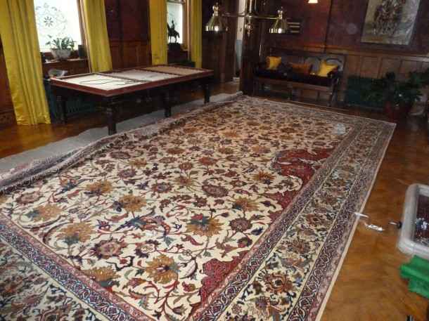 Carom to one side new rug down