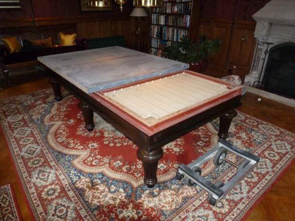 Carom with one slate off heaters