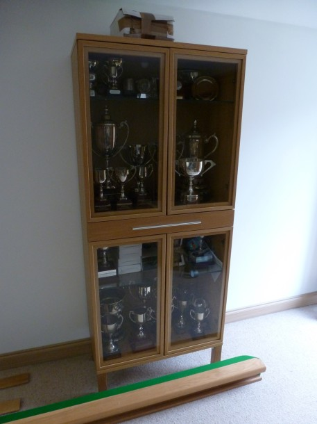 Steves 3rd recover trophy cabinet .
