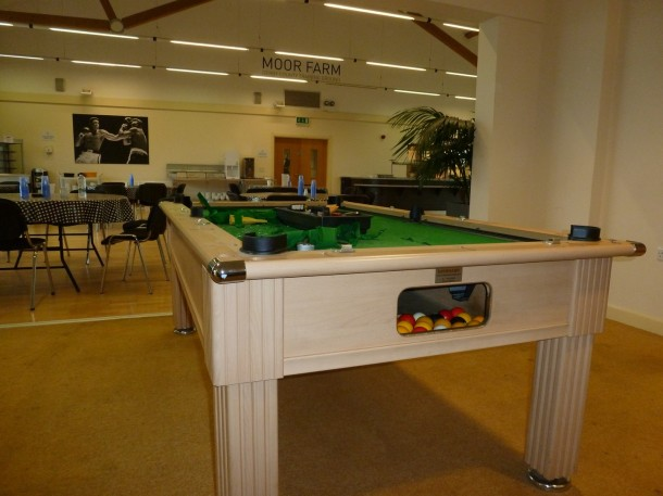Derby county pool table at Acadamy