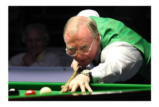dennis taylor at the table