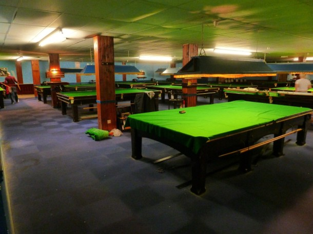 Derby snooker club 17 tables
