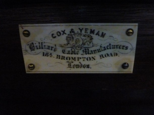 RBL Cox and yeman plate