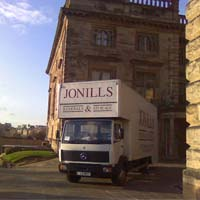 jonills van out side country house