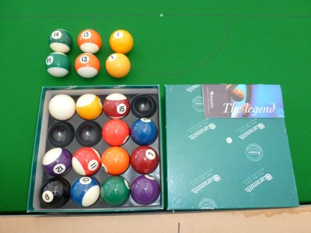 28 junction engraved aramith balls