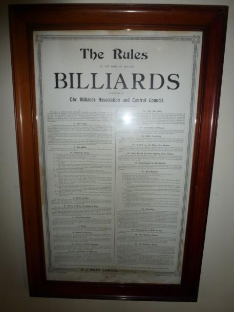 Birstal billiard rules