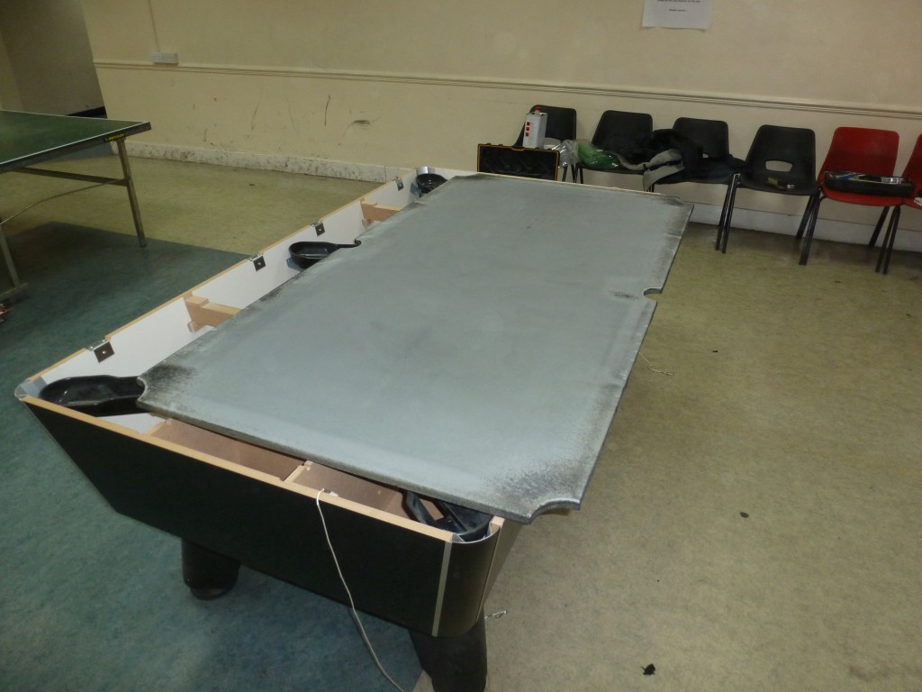 Recover Winner Supreme Pool Table In Strachan Cloth In Nottingham - Pool table without slate