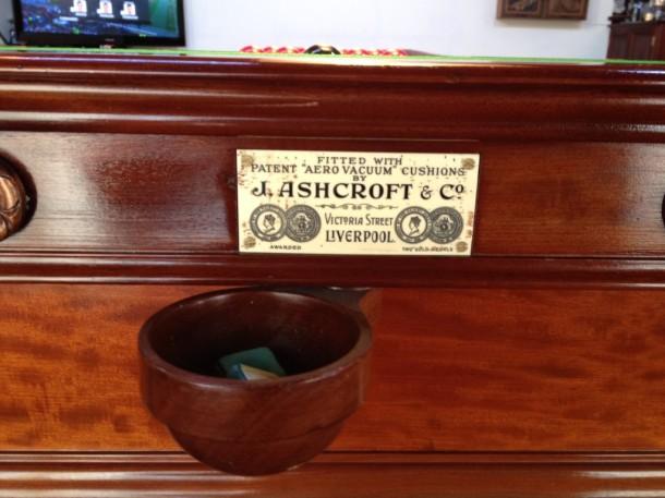 Ashcroft name plate john mathews sale