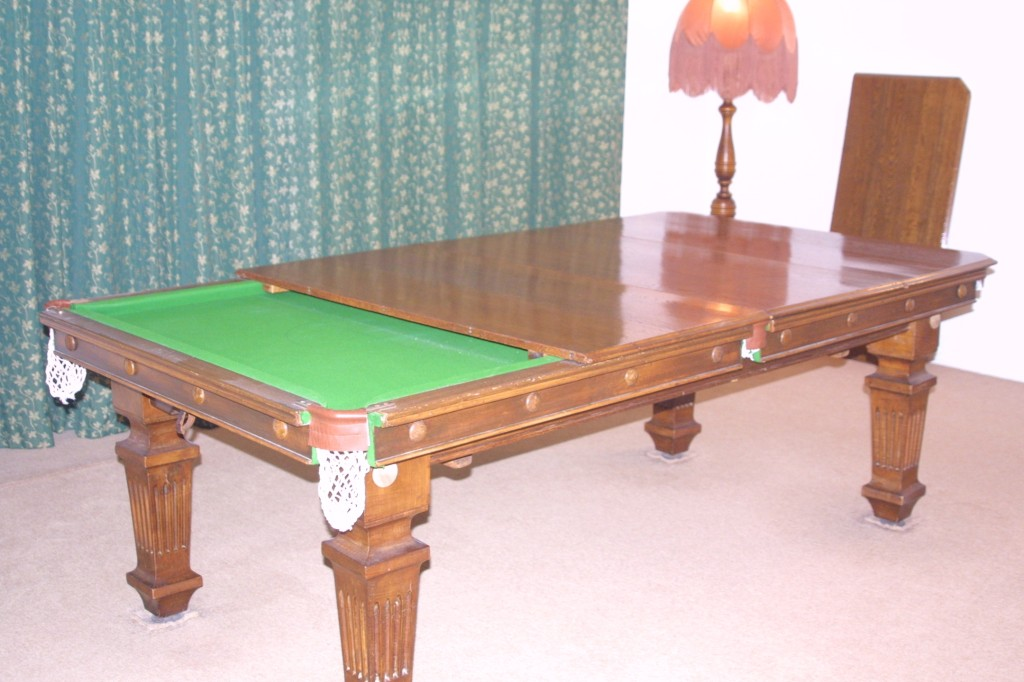 Ft Antique Jelks Oak Dining Billiard Table For Sale REDUCED FOR - Pool dining table 7ft
