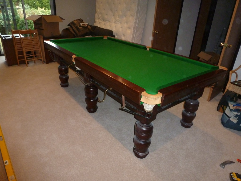 Water Damage Ft Snooker Table Work In Leeds For Insurance Firm - Adjustable pool table