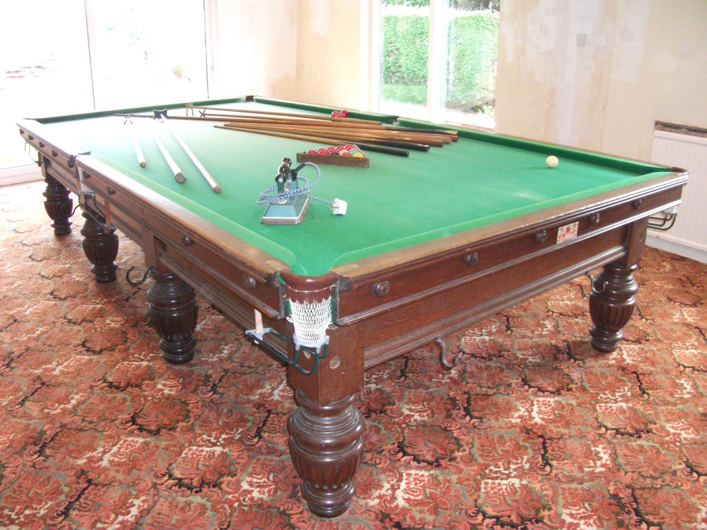 George Wright Full Size Snooker Table For Sale In Oak With Large - How big is a full size pool table