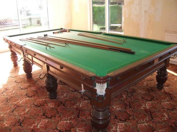 George wright boston table with long rests and balls