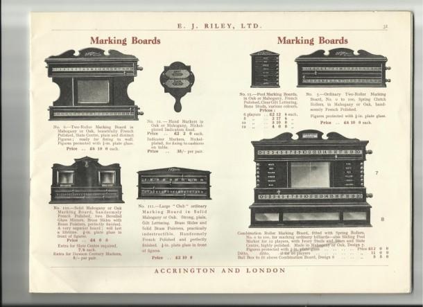 Riley scoreboards catalogue 1938-38