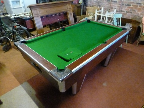 shed pool finished table