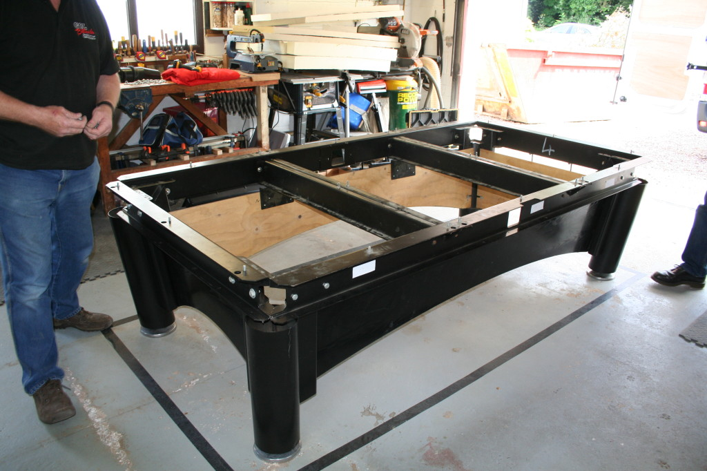 Sam k steel set up frame & Sam K steel  set up of american 9ft pool table. | GCL Billiards