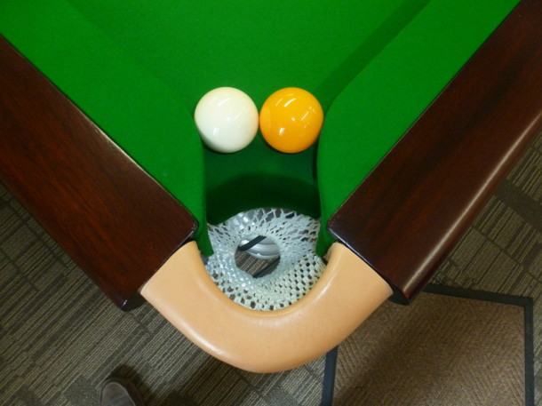 Hulland ward two balls in corner