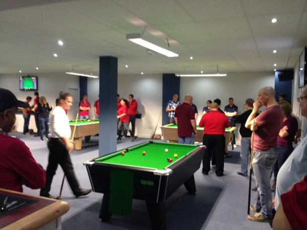 cueball pool room busy