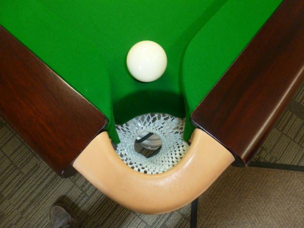 hulland ward one ball in corner