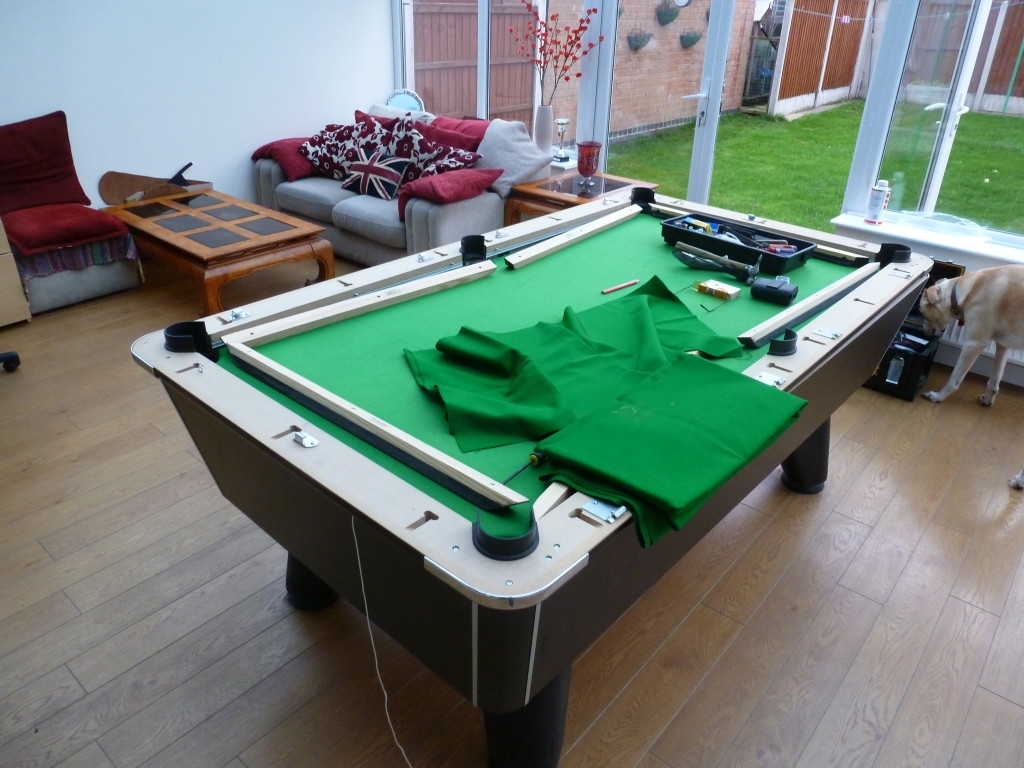 Pool Table Re Covers And Replace Old Cushions