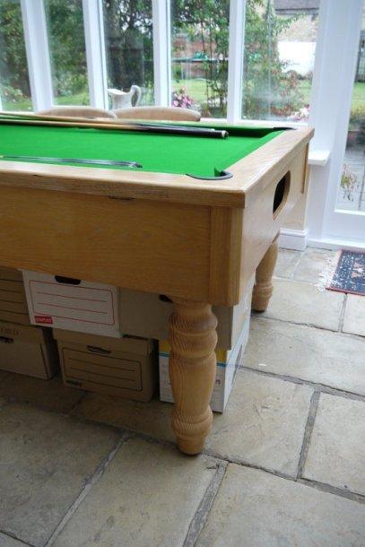 oak pool table 1