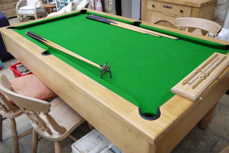 Expensive Pool Table pool table in light oak/ash / teak ? for sale , very nice