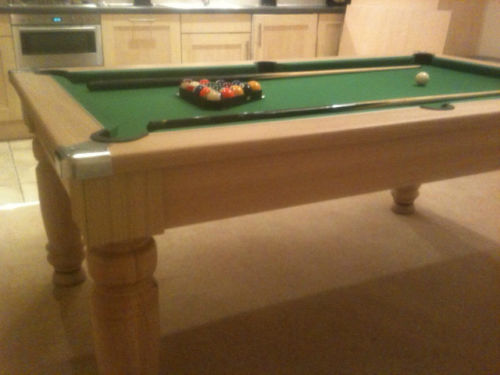 Pool table in light oak ash teak for sale very nice - Most expensive pool table ...