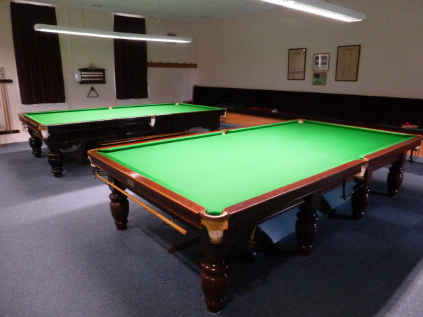 Re Cover And Re Stretch Of Two Snooker Tables In