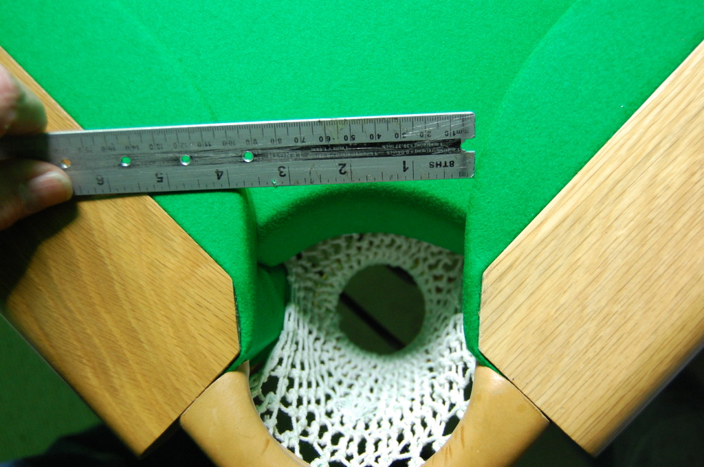 Open Up Pockets On A Modern Snooker Table For Teaching Aid