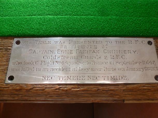 RAF linc  1914 plaque Off mess