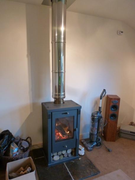 matlock cabin log burner