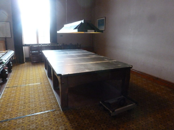RAF lincs down to slates in room ready for trolley