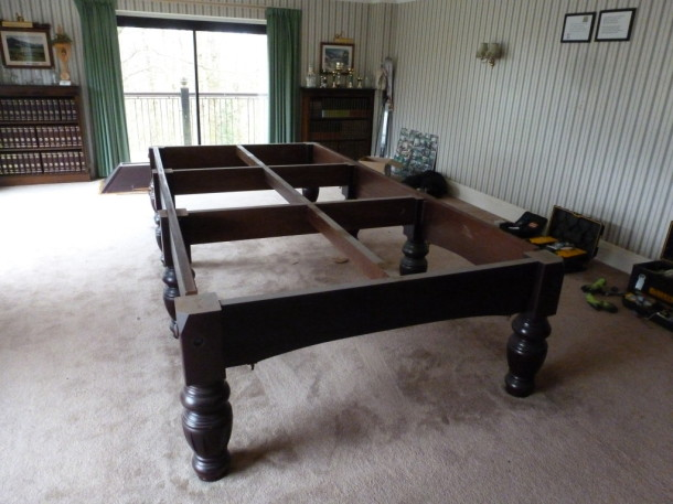 shotover table frame left in room