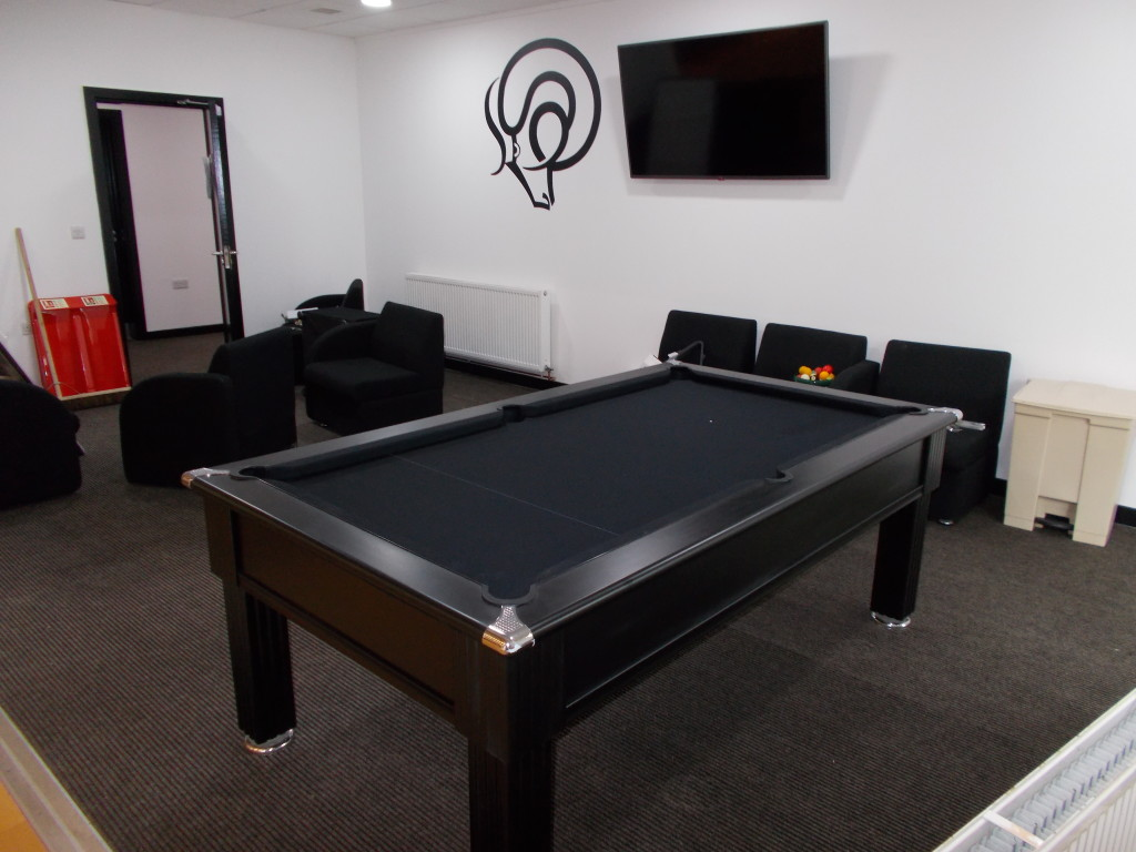 Derby County Black Pool Table