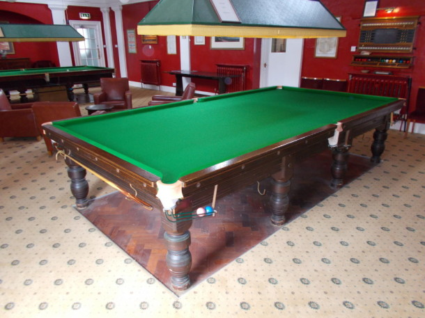 officers mess grantham finished table varnished wood