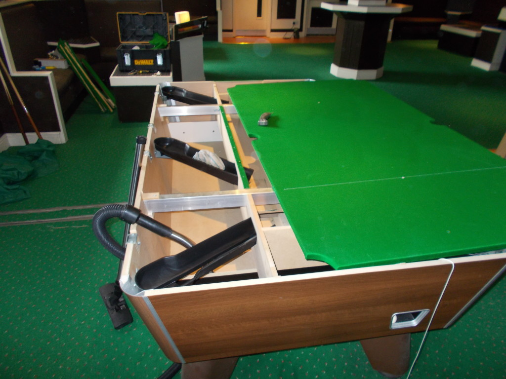 Recover Pool Table At Roller World In Derby And Also Work Fitting - Pool table cabinet