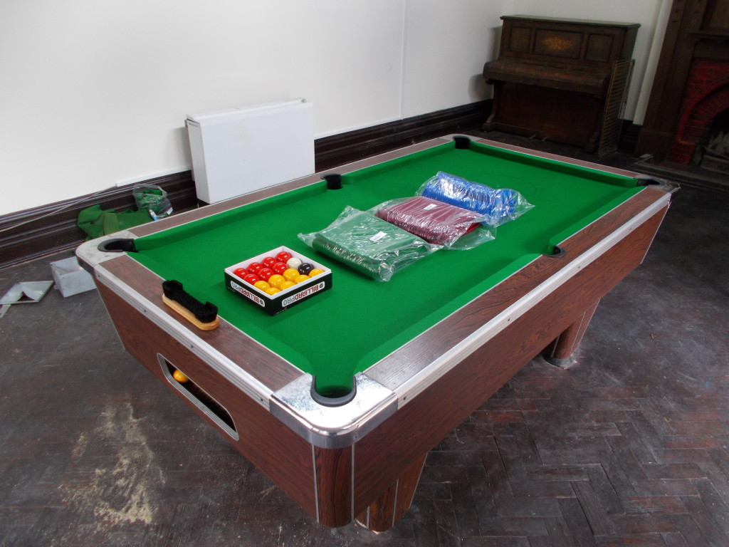 Old Pool Table Recovered And Feet Repair And Now Ready For