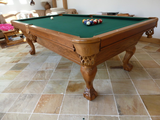 American pool repton finished table close up