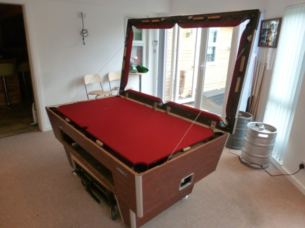 pool table 6ft superleague almost finished